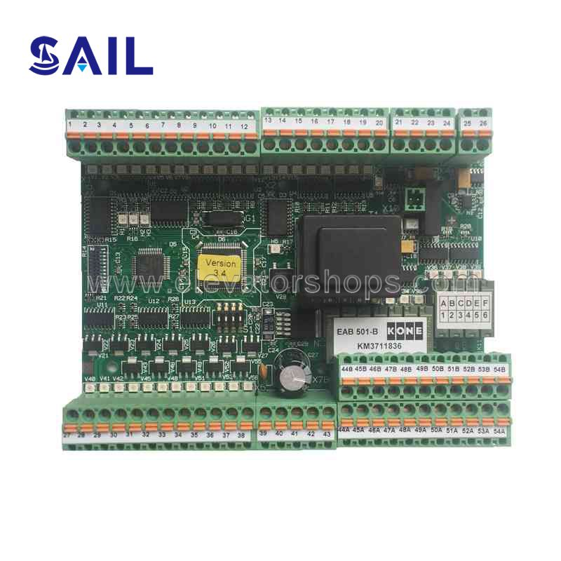 Kone Escalator ECO 501-B Board;KM3711836;Version 3.4