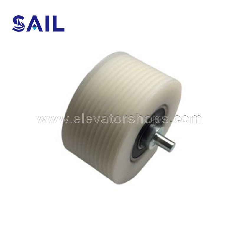 Thyssen Escalator Handrail Poly-V Belt Pulley With Long Shaft