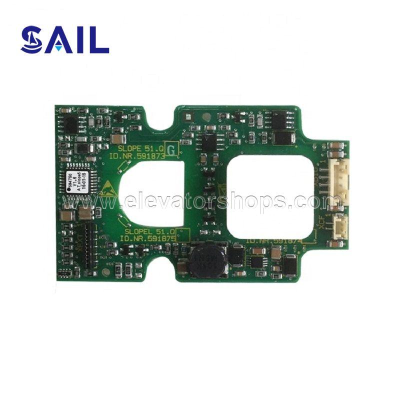 Schindler 3300 Elevator Board SLOPE 51.Q Display Board 591873