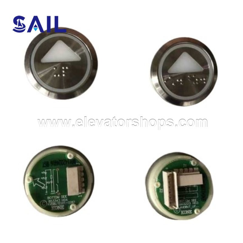 Kone Elevator Round Button with Braille KDS STD 853343H04 863323H03