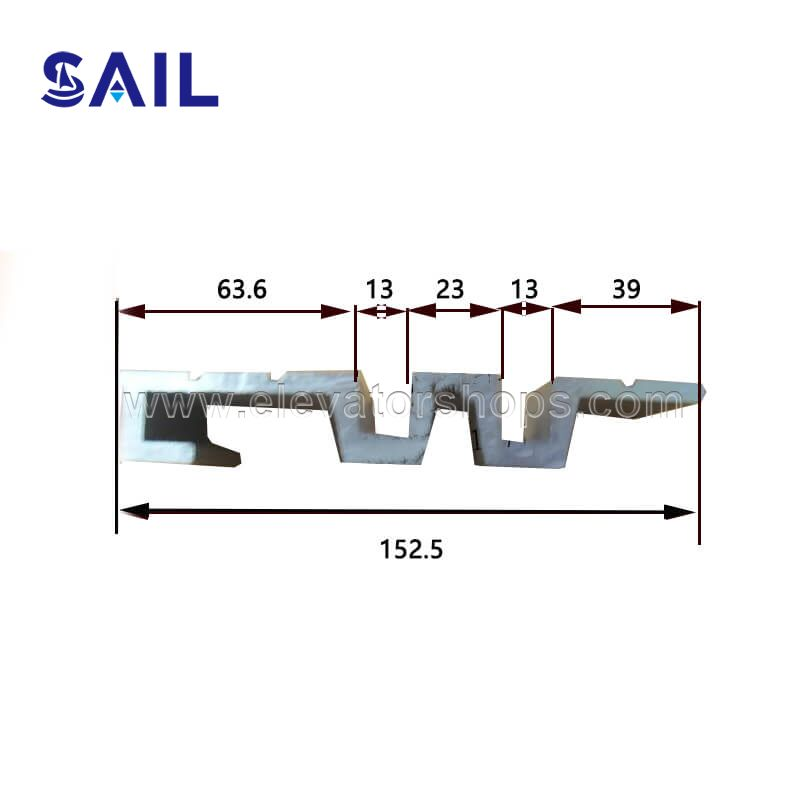 Thyssen Kone Otis Schindler All Kinds of Aluminum Ridge 152.5mmmm
