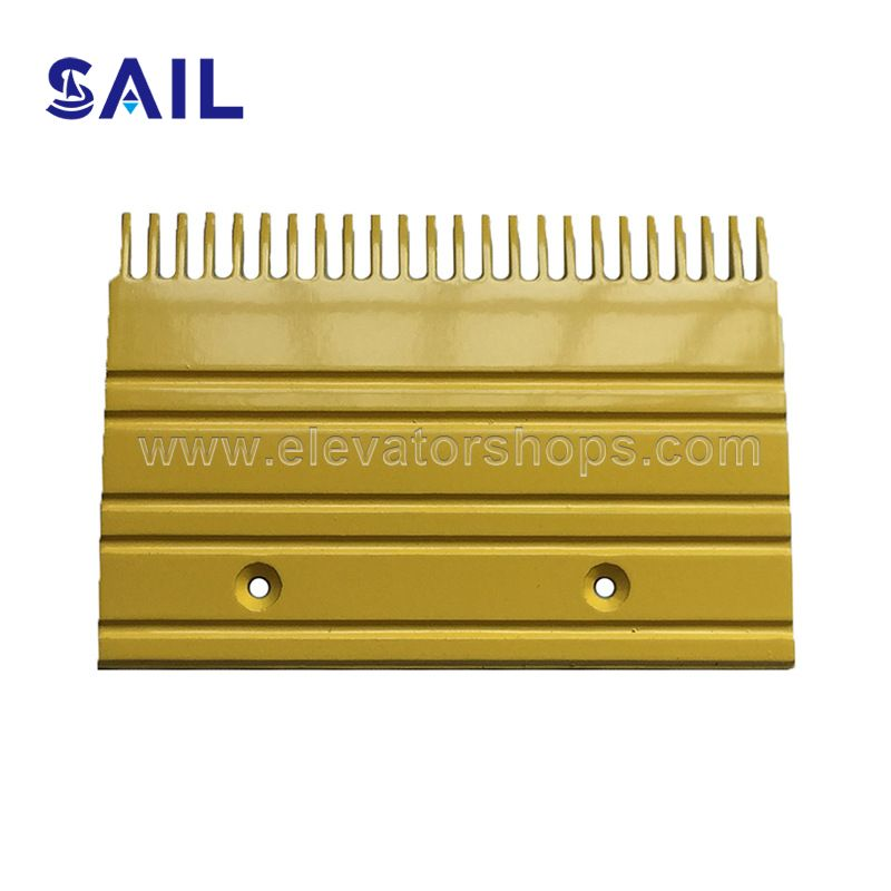 Otis Complete-Aluminum Comb Plate BM Series GAA453BM Yellow Painted