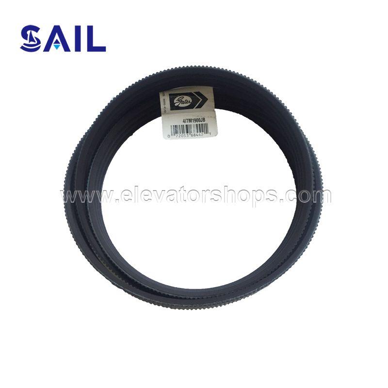 Otis Poly-V Belt By Gates 4/7M1900JB GCA717D1