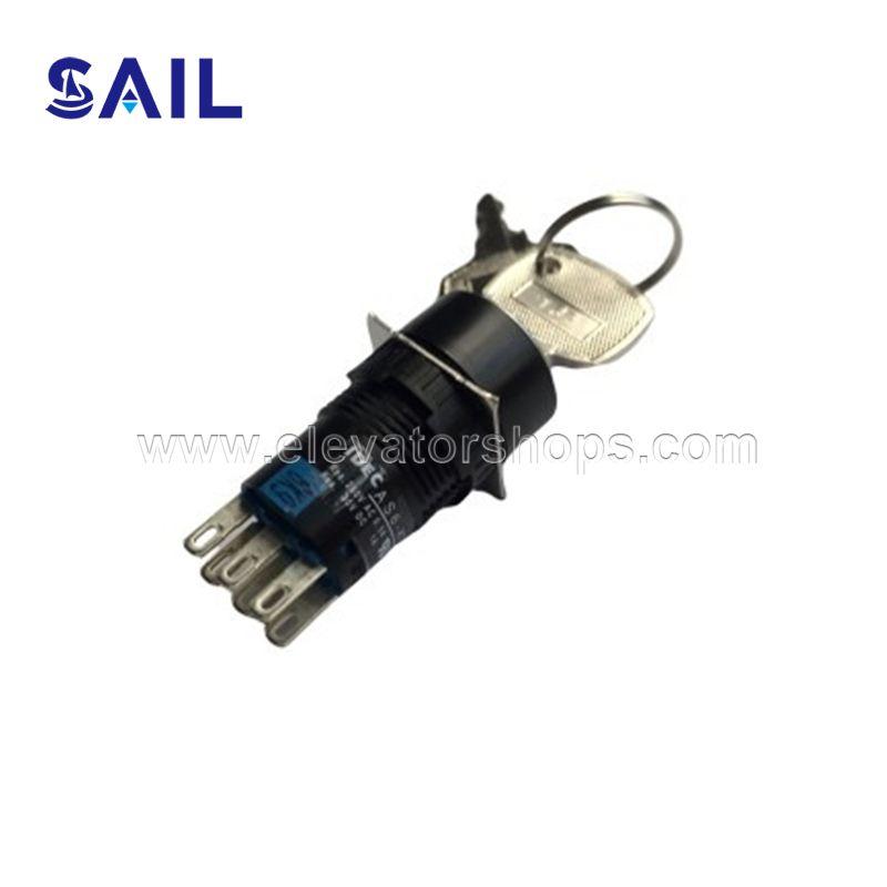 Fujitec Escalator Key Switch AS6M-3KT2AC AS6M-33KT2DC