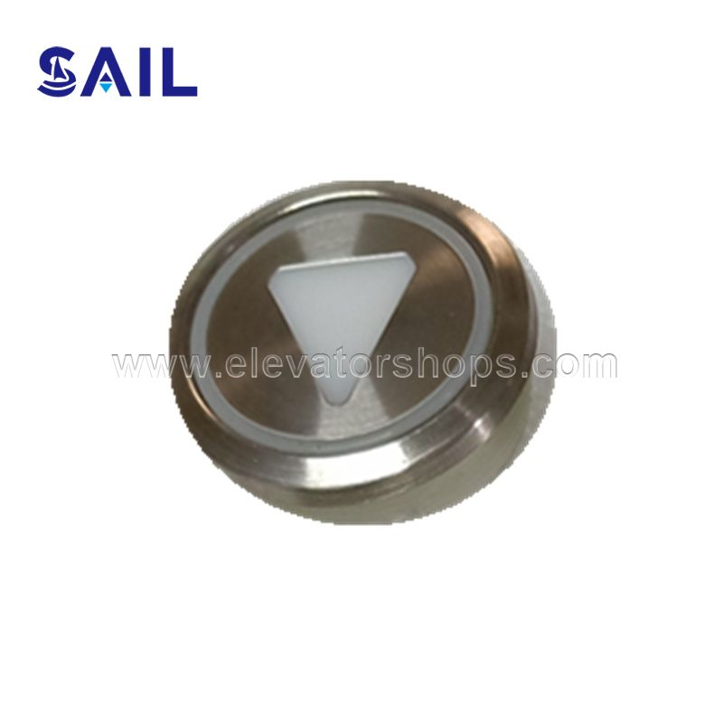 Kone Elevator Round Stainless Steel Button KM51071111H03