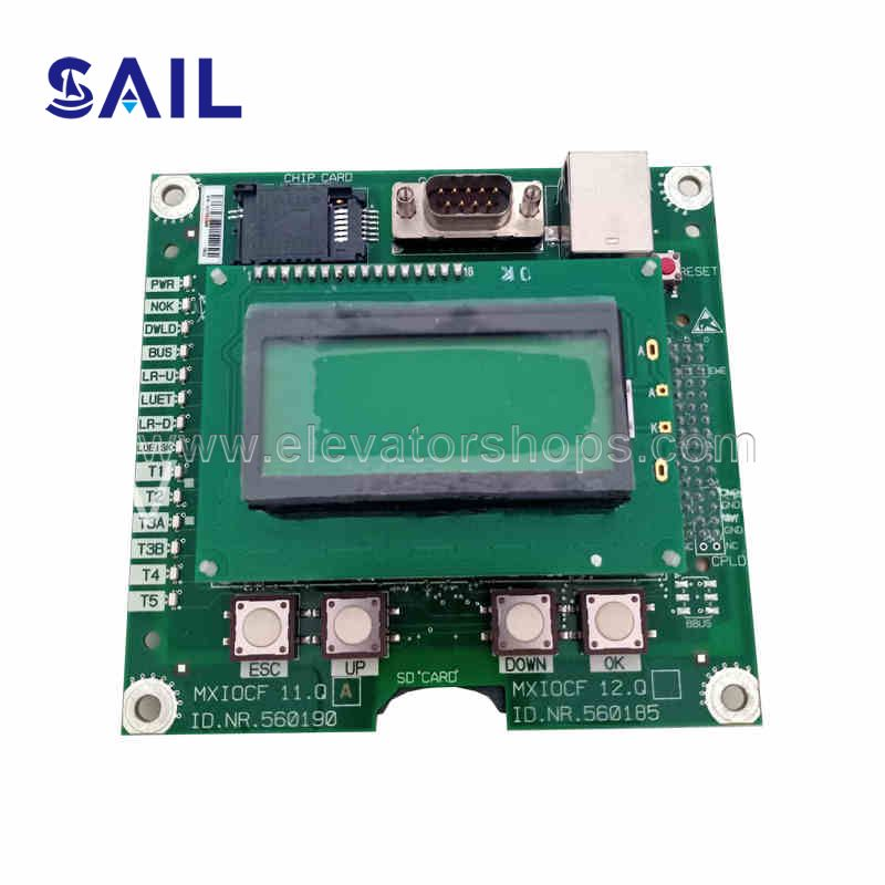 Schindler Elevator 5500 Controller Display Board MXIOCF/12.QA  560185