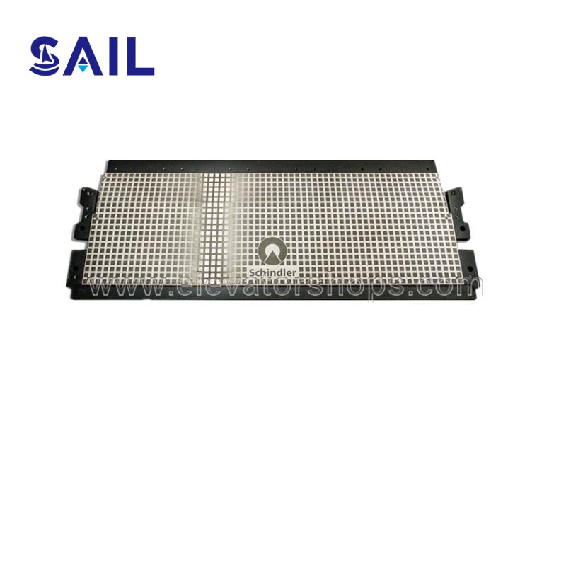 Schindler Escalator Entrance Plate etched Steel