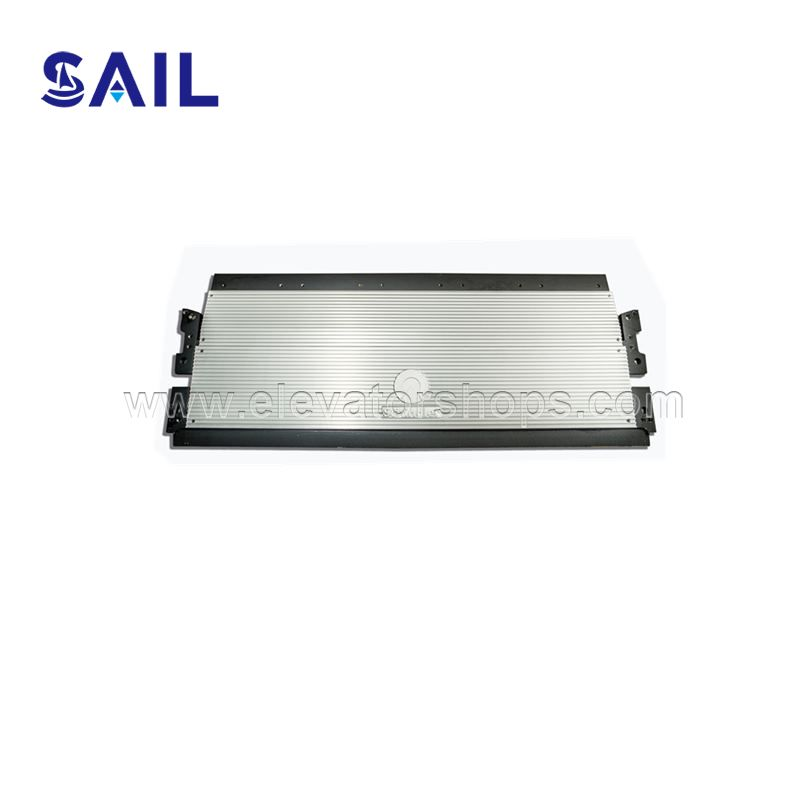 Schindler Escalator Entrance Plate Etched stripe Steel