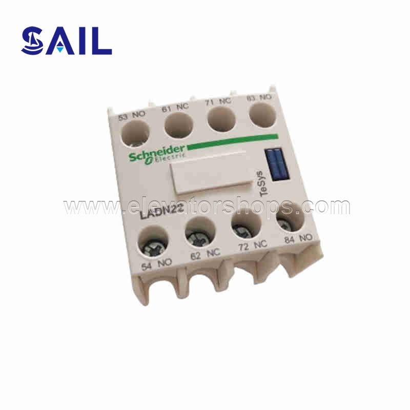 Schneider AC Contactor Auxiliary Contact Contact Module LADN22C Two Open And Two Closed